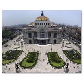 Αφίσα (mexico, γρασίδι, άνθρωποι, αρχιτεκτονική, πόλη)